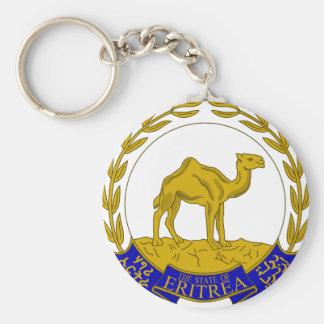 Eritrea vapensköld rund nyckelring