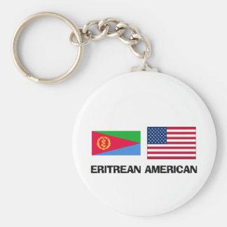 Eritreansk amerikan rund nyckelring