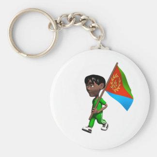 Eritreansk pojke rund nyckelring