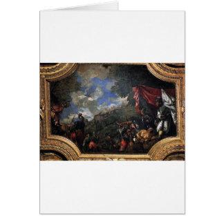 Erövring av Smyrna av Paolo Veronese Hälsningskort