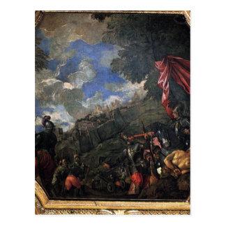 Erövring av Smyrna av Paolo Veronese Vykort