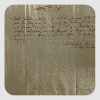 Ersättning kvitterar, 17th December, 1704 Fyrkantigt Klistermärke