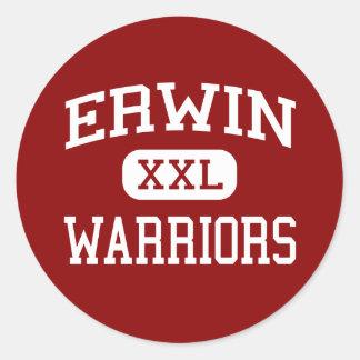 Erwin - krigare - kick - Asheville North Carolina Runt Klistermärke
