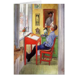 Esbjorn som gör hans läxa av Carl Larsson Hälsningskort