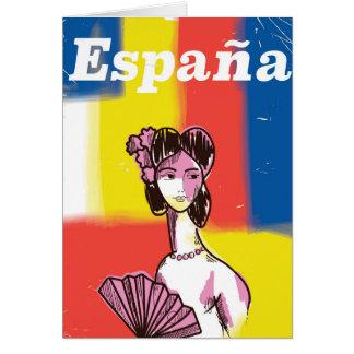 España vintage resoraffisch hälsningskort
