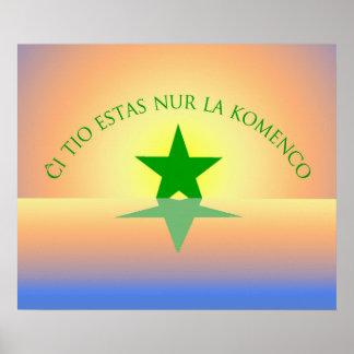 Esperanto: … affisch för nurlakomenco