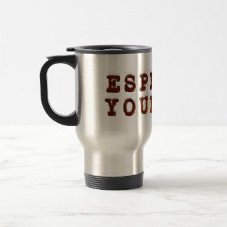 Espresso dig rostfritt stål resemugg
