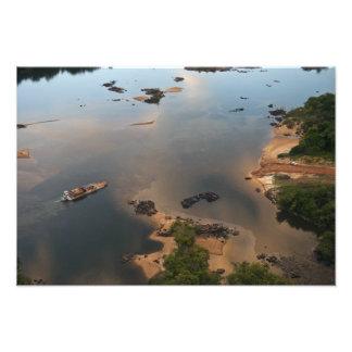 Essequibo flod, längst flod i Guyana och 2 Fototryck