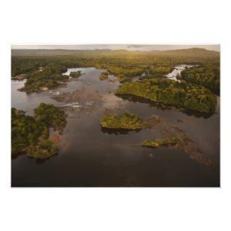Essequibo flod, längst flod i Guyana och 3 Fototryck
