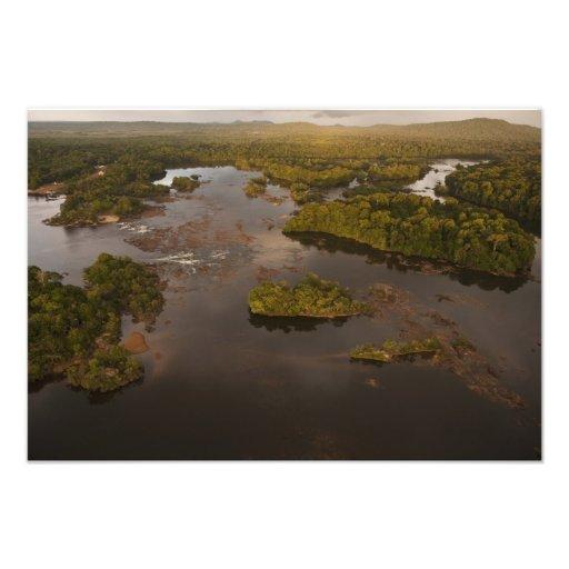 Essequibo flod, längst flod i Guyana och 3 Fotografi