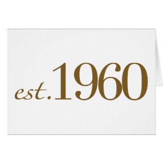 Est 1960 hälsningskort