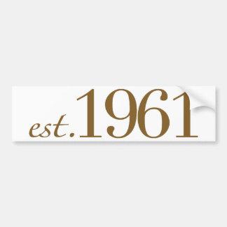 Est 1961 (födelseår) bildekal