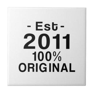 Est. 2011 liten kakelplatta