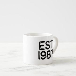 Est-födelseår 1987 espressomugg