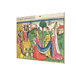 Esther 2 15-18, Esther väljs för att vara drottnin Canvastryck