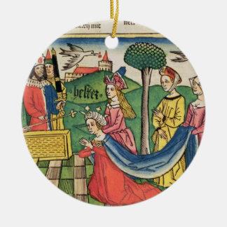 Esther 2 15-18, Esther väljs för att vara Julgransprydnad Keramik