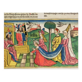 Esther 2 15-18, Esther väljs för att vara Vykort