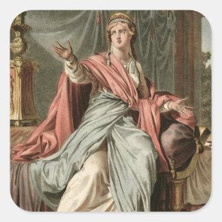 """Esther dräkt för """"Esther"""" vid Jean Racine, från Fyrkantigt Klistermärke"""