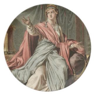 """Esther dräkt för """"Esther"""" vid Jean Racine, från Tallrik"""