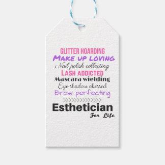 Esthetician för liv presentetikett