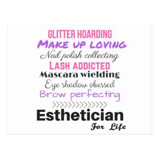 Esthetician för liv vykort