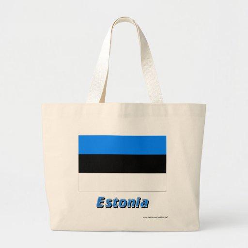 Estland flagga med namn tote bag
