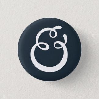 Et-tecken knäppas mini knapp rund 3.2 cm