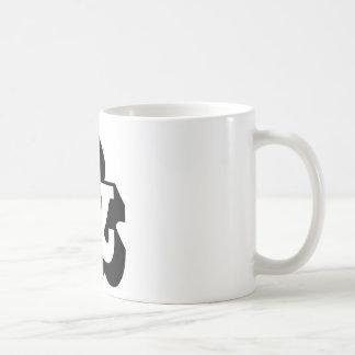 Et-tecken och & kaffemugg