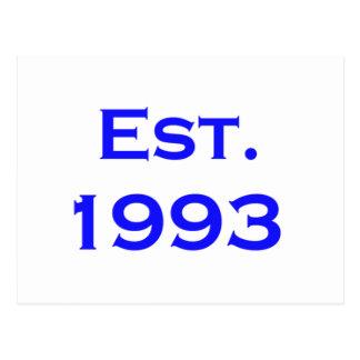 etablerad 1993 vykort