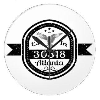 Etablerat i 30318 Atlanta Stor Klocka