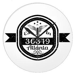 Etablerat i 30349 Atlanta Stor Klocka