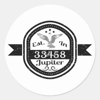 Etablerat i 33458 Jupiter Runt Klistermärke