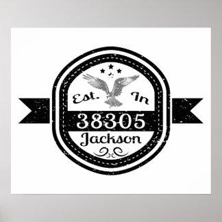 Etablerat i 38305 Jackson Poster
