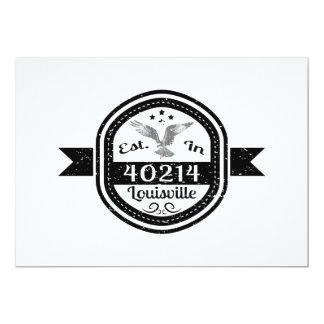 Etablerat i 40214 Louisville 12,7 X 17,8 Cm Inbjudningskort