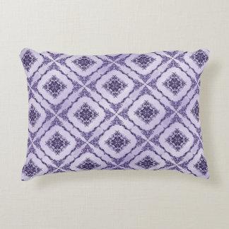 Eterisk lila- och lavendelFractaldesign Prydnadskudde
