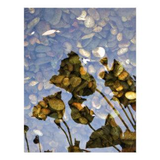 Eterisk lotusblomma brevhuvud
