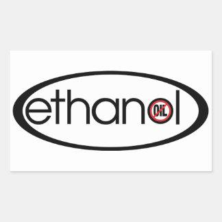 Ethanol - ingen olja rektangulärt klistermärke