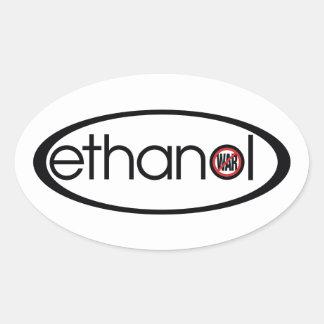 Ethanol - inget krig ovalt klistermärke