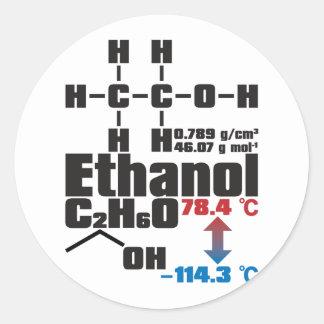 Ethanol Runt Klistermärke