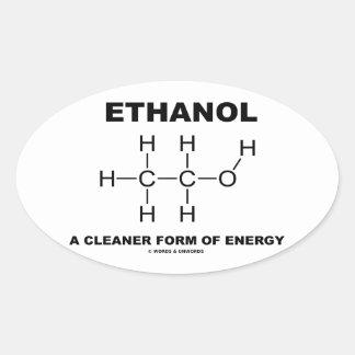Ethanol som ett mer ren bildar av energi ovalt klistermärke
