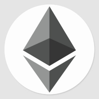 Ethereum logotyp endast runt klistermärke