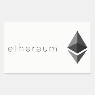 Ethereum Rektangulärt Klistermärke