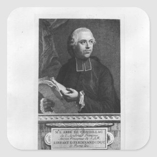 Etienne Bonnot de Condillac Fyrkantigt Klistermärke