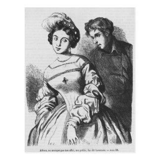 Etienne Lousteau som talar till en aktris Vykort