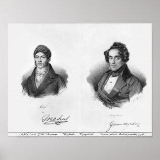 Etienne Mehul och Giacomo Meyerbeer Poster