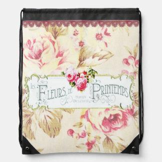 """Etikett""""Fluers Printemps"""" för vintage fransk Gympapåse"""