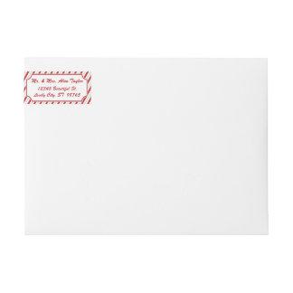 Etikett för adress för automatiskt linjeskift för
