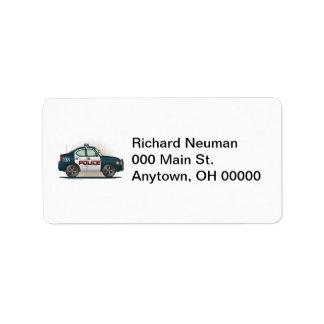 Etikett för adress för bil för snut för adressetikett