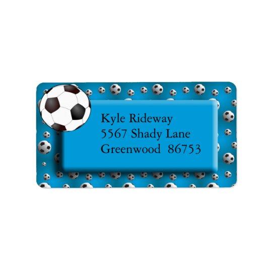 Etikett för adress för blåttfotbollboll adressetikett