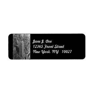 Etikett för adress för empire stateBldg New York Returadress Etikett